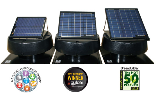 Award-winning Solar Attic Fans