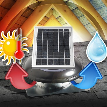 10 Watt Solar Attic Fan