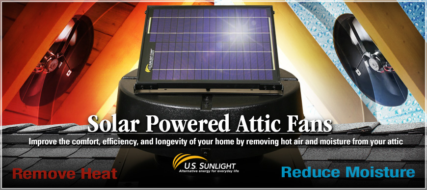 Solar Powered Attic Fans