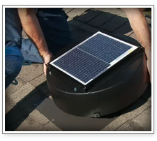 Solar Attic Vent Installation